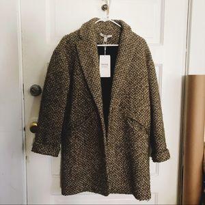 Zara wool coat army green Small